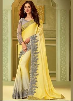 Absorbing Art Silk Mehndi Designer Saree