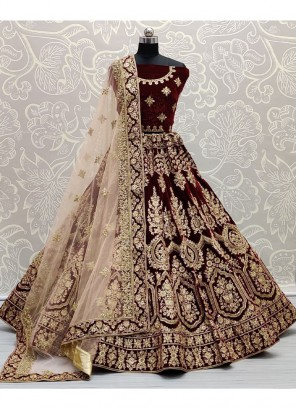 Adorable Red and heavy Work Bridal Lehenga Choli