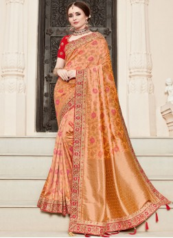 Adorable Resham Traditional Designer Saree