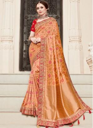 Adorable Resham Traditional Designer Saree