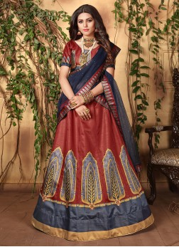 Adorable Satin Digital Print Trendy Lehenga Choli