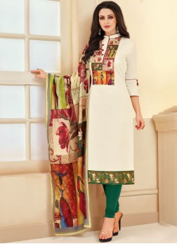 Adorning Cotton Churidar Suit