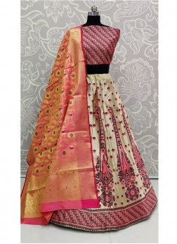 Advance Wedding Wear Bridal Banarasi Silk Purple Lehenga Choli