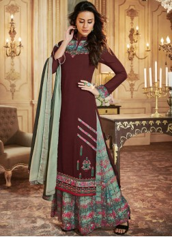 Aesthetic Print Palazzo Designer Salwar Suit