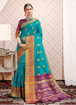 Alluring Weaving Designer Traditional Saree