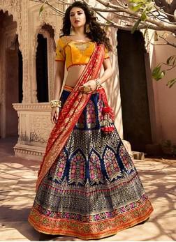 Amazing Designer Lehenga Choli For Mehndi