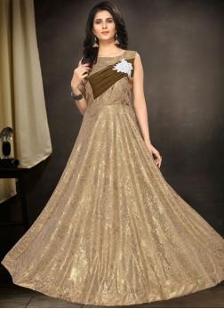 Amazing Fancy Fancy Fabric Floor Length Gown