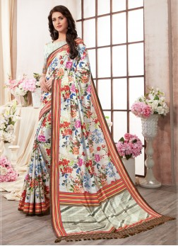 Angelic Art Silk Multi Colour Printed Saree