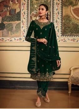 Appealing Thread Work Designer Salwar Suit In Green