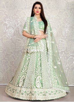 Apple Green Thread Work Designer Lehenga Choli