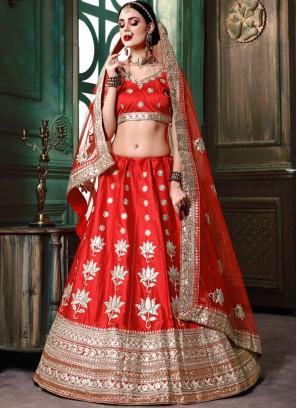Sonam Kapoor Red Resham Bridal Lehenga Choli