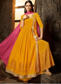 Artistic Muslin Sangeet Designer Salwar Kameez