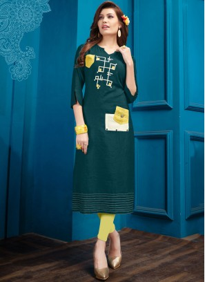 Astonishing Fancy Cotton Party Wear Kurti