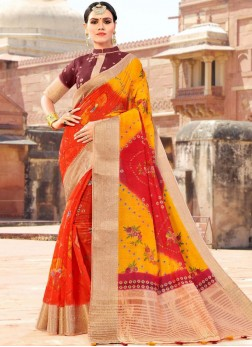 Astounding Multi Colour Fancy Fabric Shaded Saree