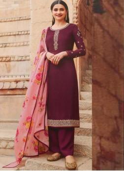 Attractive Designer Festival Look Salwar Suit In Wine - Salmon Pink