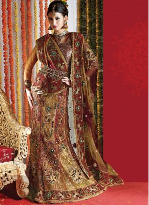 Attractive Embroidered Multi Colour Lehenga Choli