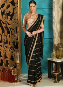 Auspicious Embroidered Designer Traditional Saree