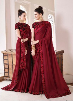 Awesome Border Georgette Trendy Saree