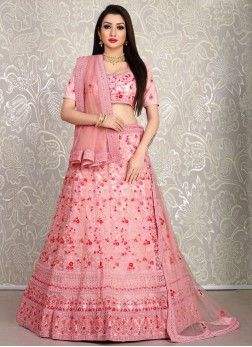 Baby Pink Designer Lehenga choli For Engagement
