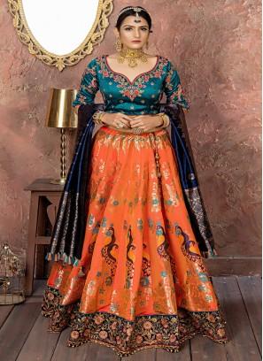 Banarasi Silk Dori Work Designer Lehenga