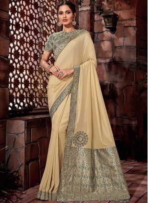 Baronial Georgette Embroidered Designer Saree