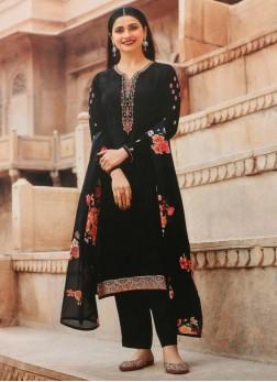 Beaut Festival Look Designer Salwar Suit In Full Black