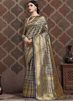Beauteous Art Silk Gold Weaving Traditional Designer Saree