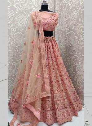 Beauteous Pink Lehenga Choli