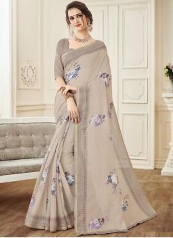 Bedazzling Linen Casual Designer Saree
