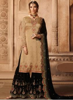 Beige Color Designer Pakistani Suit