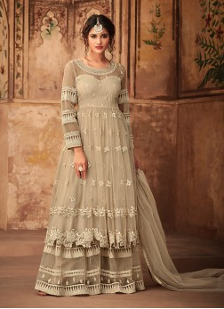 Beige Wedding Designer Pakistani Suit