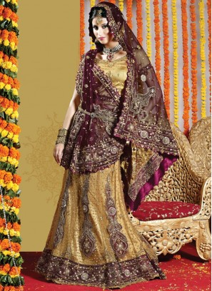 Best Embroidered Net Handwork Lehenga Choli