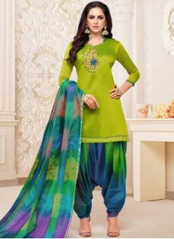 Best Green Party Designer Patiala Suit
