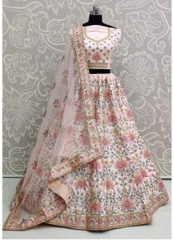 Bewitching Pink Designer Bridal Wear Lehenga Choli