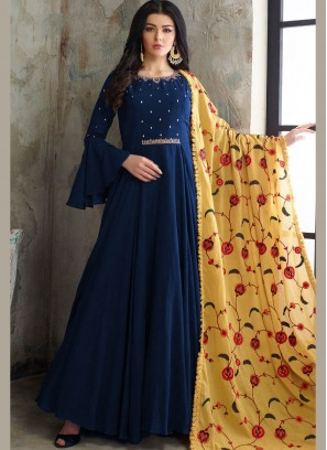 Blue Color Readymade Anarkali Suit