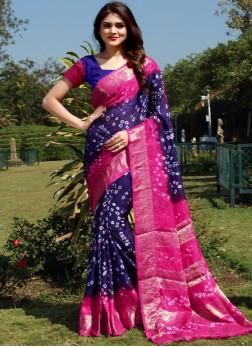 Blue Fancy Fabric Designer Saree