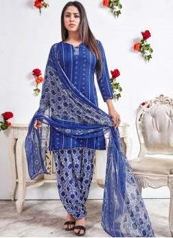Blue Punjabi Suit