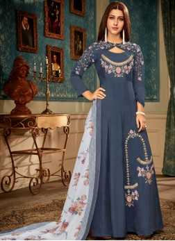 Blue Readymade Gown
