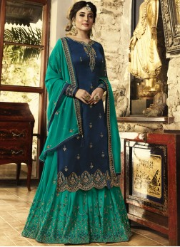 Blue Zari Designer Pakistani Suit