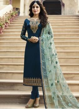 Breathtaking Churidar Designer Suit For Festival
