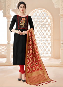 Breathtaking Cotton Churidar Salwar Suit