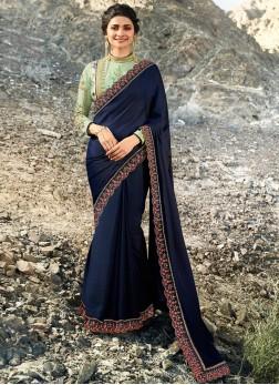 Breathtaking Lace Prachi Desai Art Silk Designer Traditional Saree