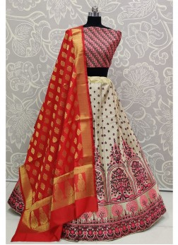 Brilliant Purple Bridal Wear Banarasi Silk Lehenga Choli