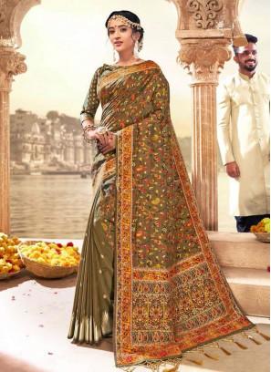 Brown Color Saree