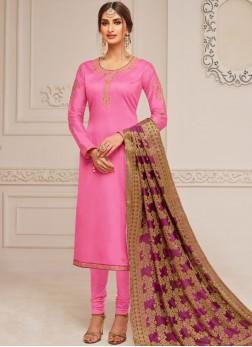 Captivating Cotton Silk Festival Churidar Designer Suit