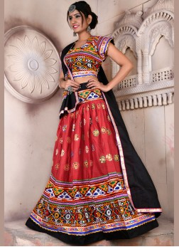 Captivating Multi Colour Festival chaniya choli