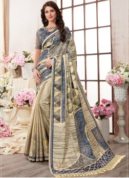 Catchy Printed Saree For Ceremonial