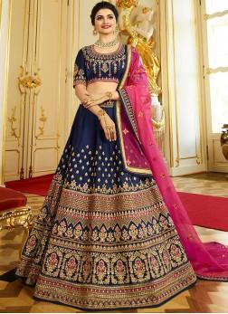 Celestial Lace Blue Prachi Desai Lehenga Choli