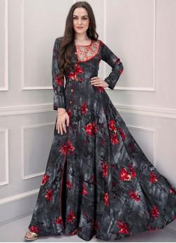 Celestial Multi Colour Festival Designer Gown