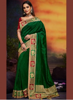 Celestial Patch Border Designer Traditional Saree